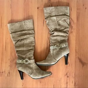 Blake Scott Tan Heeled Boots